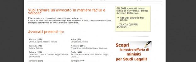 Elenco ragionato di Avvocati e Studi Legali italiani