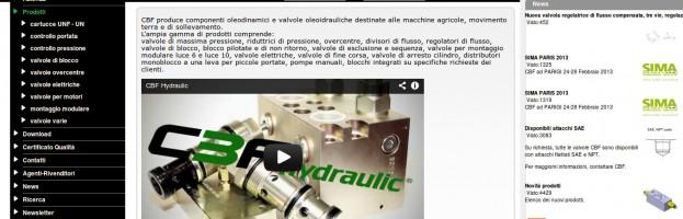 Componenti oleodinamici per macchine agricole, movimento terra e di sollevamento.